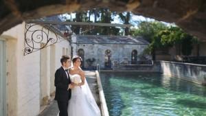 Couple having themed wedding