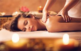 Relax this Christmas - woman having aromatherapy massage.