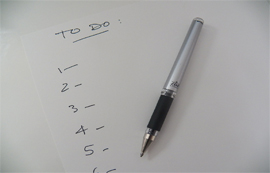 To do list to help you relax at Christmas.