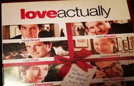 Christmas film Love Actually - relax at Christmas.