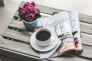 relaxing coffee table de-stress at home