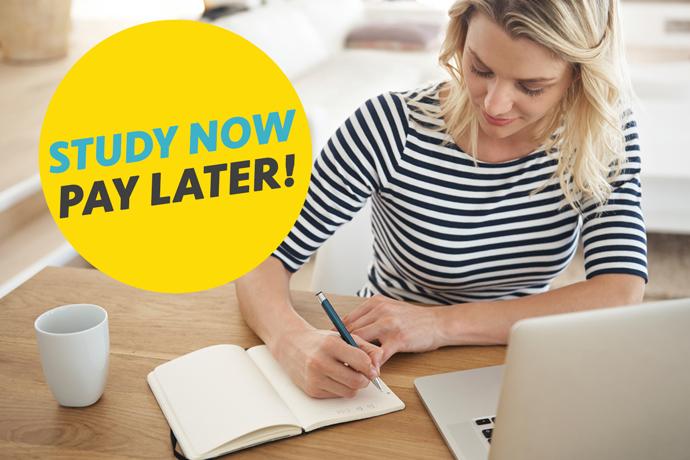 19+ Learner Loans. Woman studying