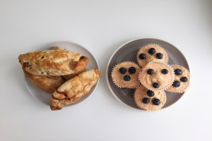 Easy recipes. Picture of pasties and cakes.