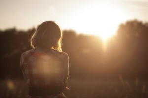 Cognitive behavioural therapy. Girl in the sunlight