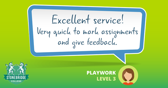 Stonebridge College reviews. Playwork Level 3 feedback.