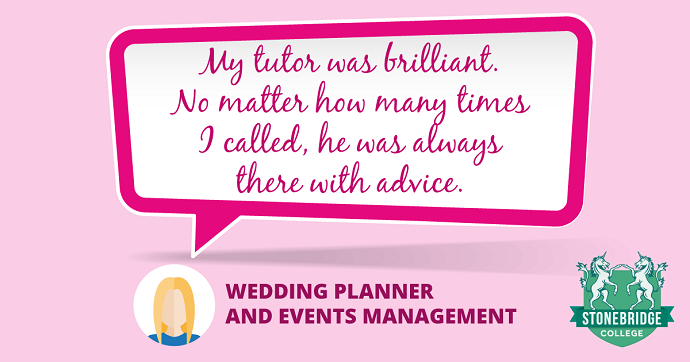 Stonebridge College reviews. Wedding Planner and Events Management feedback.