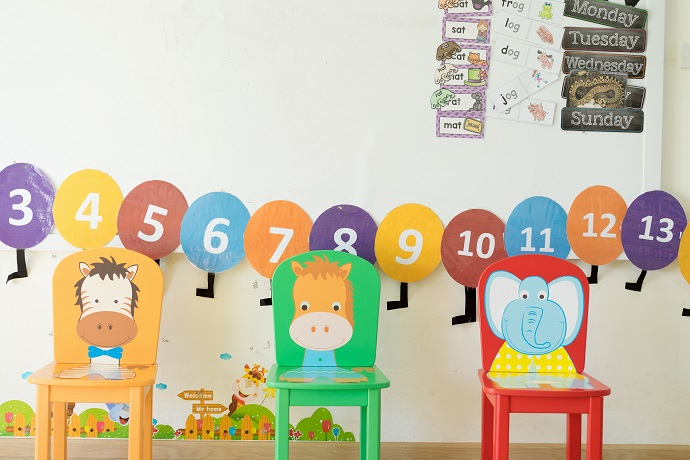kid's chairs in class room