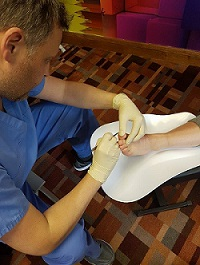 Starting a foot care business requires professional training.