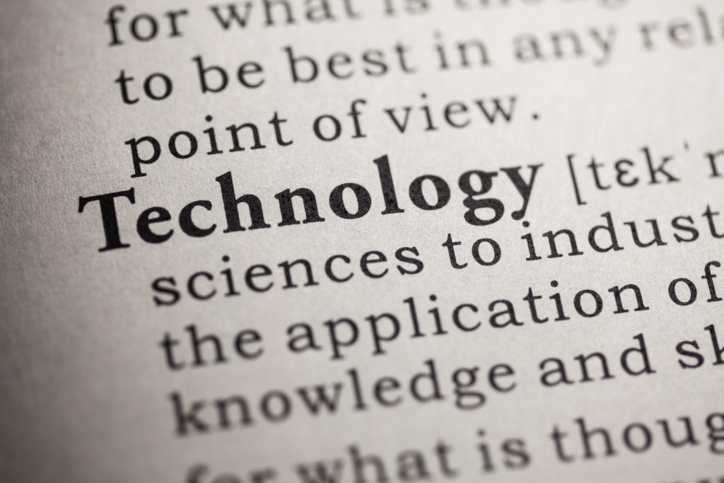 Dictionary definition of the word technology. Web development