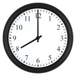 clock showing eight
