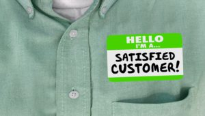 Satisfied customer after great customer service