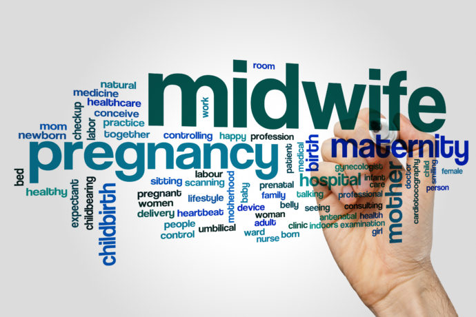 Midwife word cloud