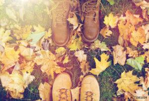 feet autumn leaves