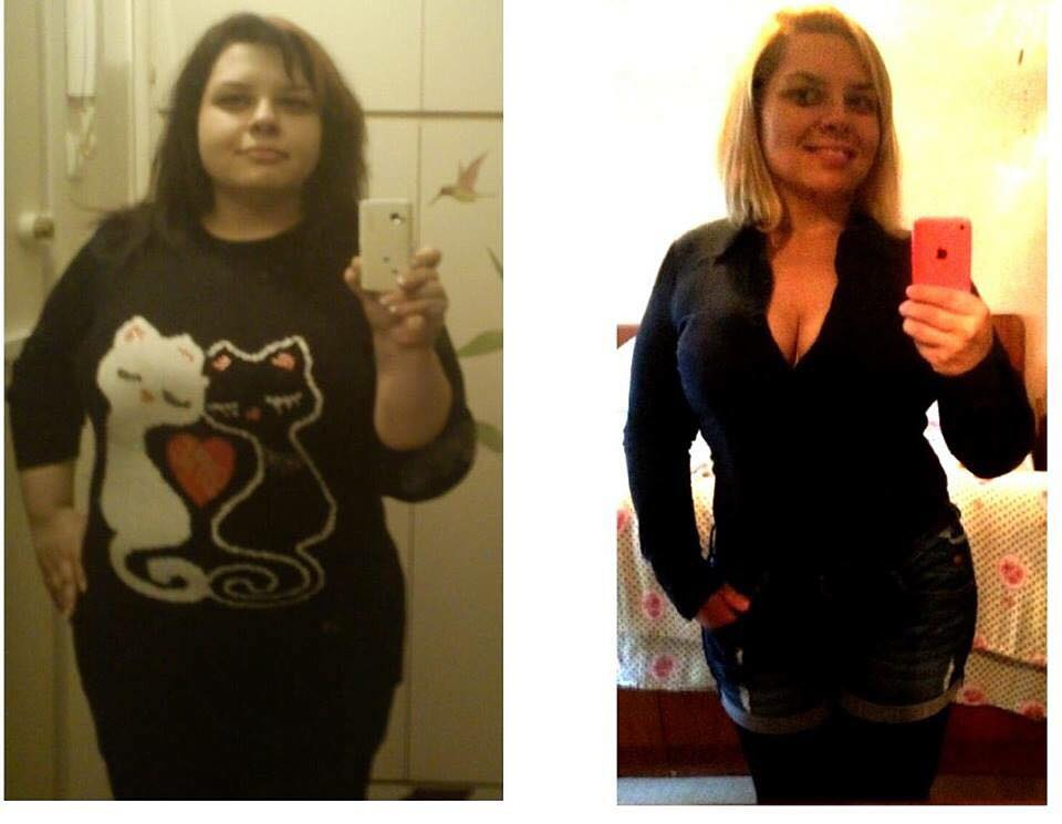 losing weight before and after